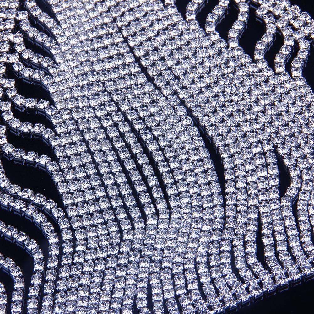 New Luxury Rhinestone Bra Chain Necklace Harness Lingerie Underwear Thong Set for Women Crystal Body Waist Chain Panties Jewelry 4