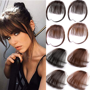 HOUYAN HAIR 6inch 4Color Clip In Hair Bangs Hairpiece Accessories Synthetic Fake Bangs Hair Piece Clip In Hair Extensions(China)