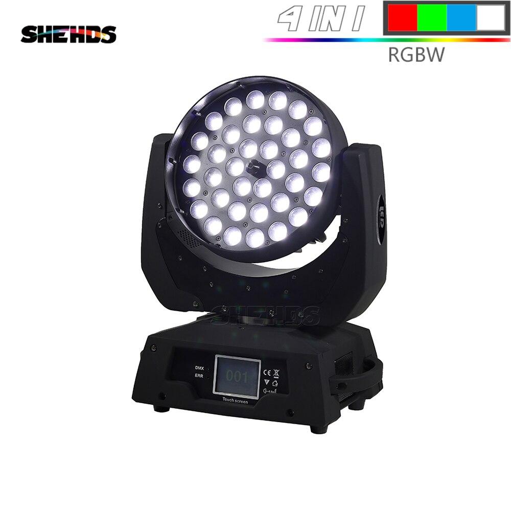 Diodo emissor de luz de lavagem zoom movendo a luz principal 36x12 w/18 w rgbw/+ tela de toque uv adequado para dmx luz de estágio profissional/ktv efeito luz