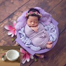 Newborn Photography Props Baby Photos Cribes Bed Basket Bebe Studio Accessori woven Handmade Round Tub Newborn Shoot Accessori cheap Unisex 0-6m 7-12m CN(Origin) 20210614 0-3 Months photography baby props photo props baby baby accessori