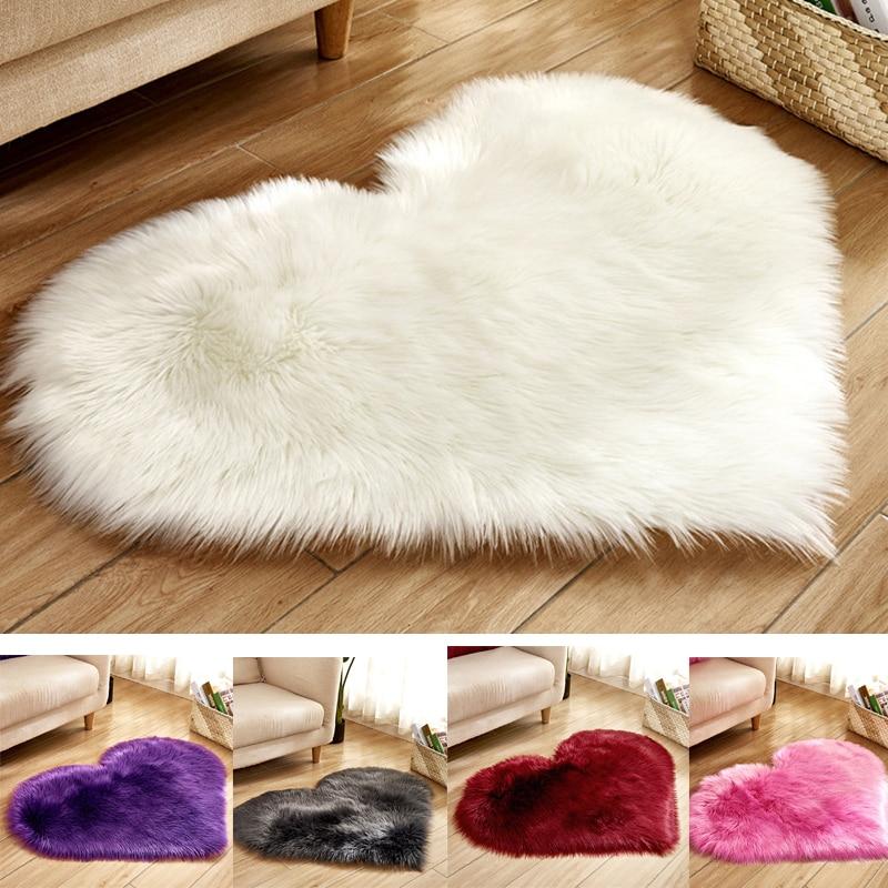 Soft Heart Shape Shaggy Plush Fur Rug Carpet Home Living Room Bedroom Fluffy Mat Scope Of Application Corridor Entrance Dropship