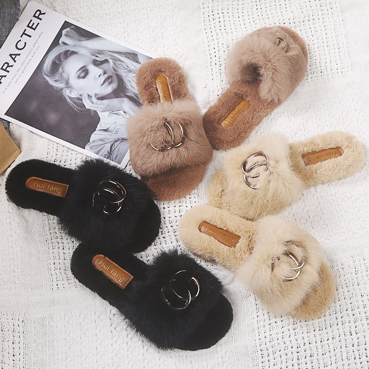 Walker New Women Spring Plush Slippers Walkers for Elderly Zapatos De Mujer Shoes Woman Fashion Slippers Iron Ring|Slippers| - AliExpress