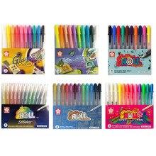 Japonia Sakura zestaw długopisów żelowych 3D Jelly Pen podstawa/jasny/Highlight/Souffle/Glaze długopisy do rysowania atrament żelowy Glitter Decoration stacjonarne