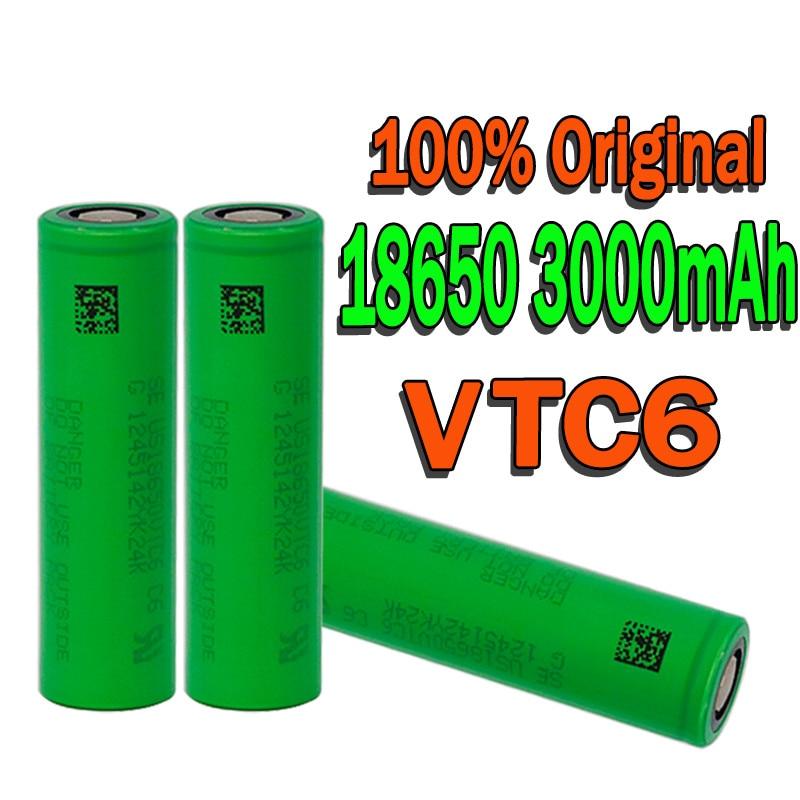 100% Оригинальный VTC6 18650 в 3000 мАч литий-ионный аккумулятор 3,7 В для us18650 vtc6 3000 мАч batera USO juguetes herramient comme
