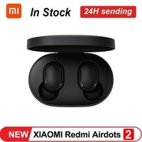 Xiaomi-auriculares inalámbricos Redmi AirDots 2, dispositivo de audio TWS, con modo Lag bajo, izquierda y derecha, estéreo, enlace automático