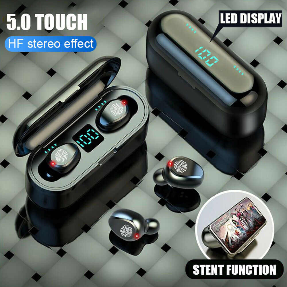 F9 Tws Wireless Earphone Bluetooth 5.0 Sentuh Headphone ANC Headset Gaming dengan 2000 MAh Powerbank untuk Ponsel PK Q32TWS