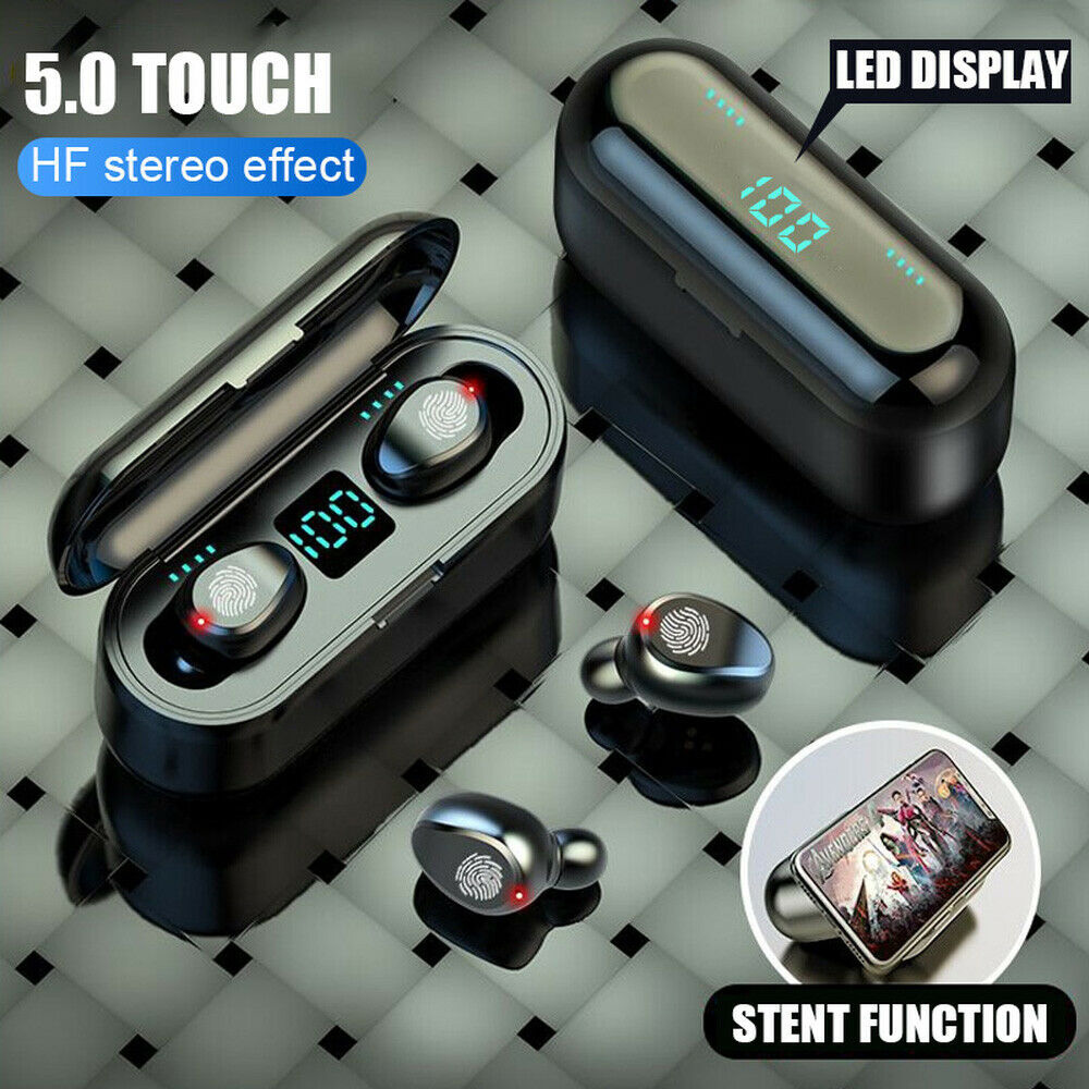 F9 Tws Wireless Eearphones Bluetooth 5.0 Touch Headphones ANC Gaming Headsets With 2000mAh Powerbank For Mobile Phones PK Q32TWS