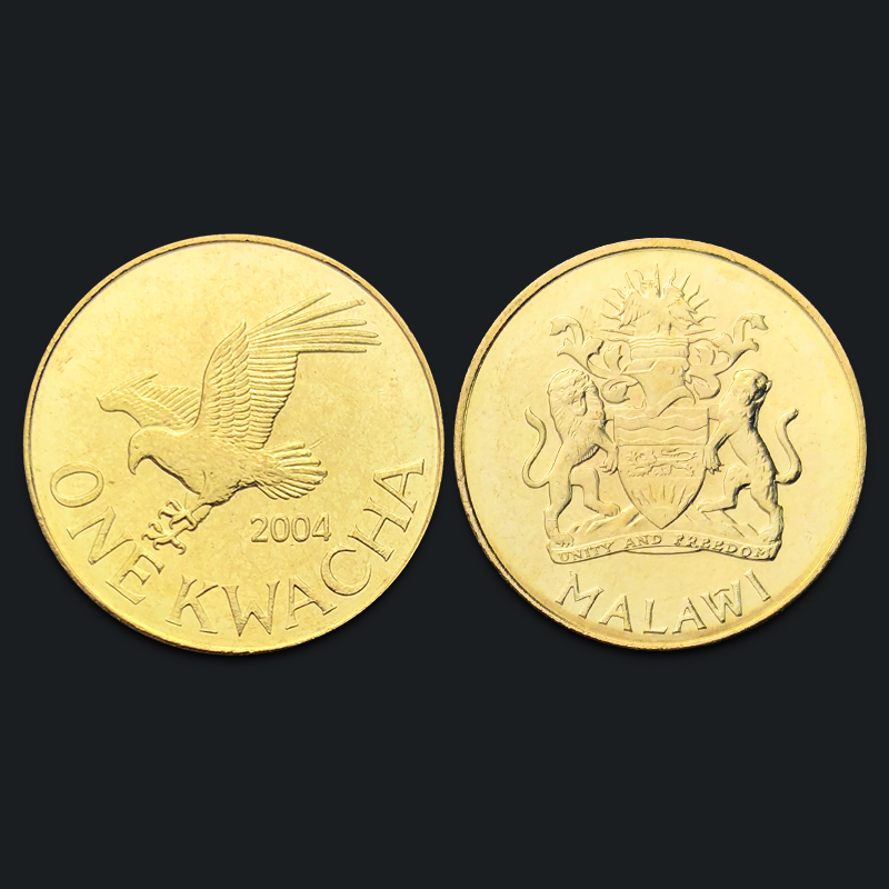 Malawi 1 Kwacha Eagle 2004 Genuine Original Coins 100% Real Issuing Collection Coins Unc Africa