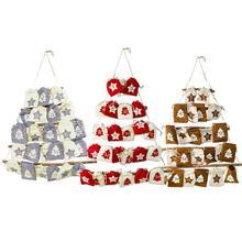 Рождественская подвесная сумка с обратным отсчетом и календарем тканевая сумка для хранения рождественского календаря Новогоднее украшение