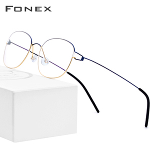 Image 1 - 린드버그 디자인 티타늄 합금 광학 프레임 처방 안경 근시 무나사 안경테 남녀공용 98618