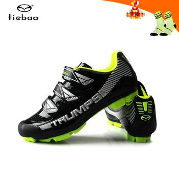 Tiebao cycling shoes men sapatilha ciclismo mtb self-locking outdoor professional mountain bike sneakers breathable riding shoes
