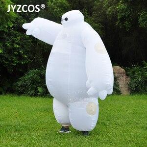 Image 3 - Jyzcos大人インフレータブルbaymax衣装ハロウィンコスプレ衣装新ビッグヒーロー 6 マスコットコスチュームパーティーファンシードレス男性の女性のため