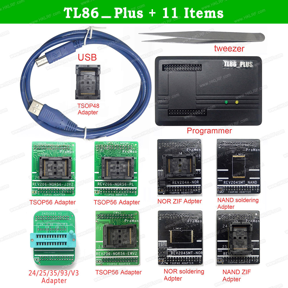 TL86 PLUS Professional Programmer Repair Tool High Programming Speed Programmer 11 Items