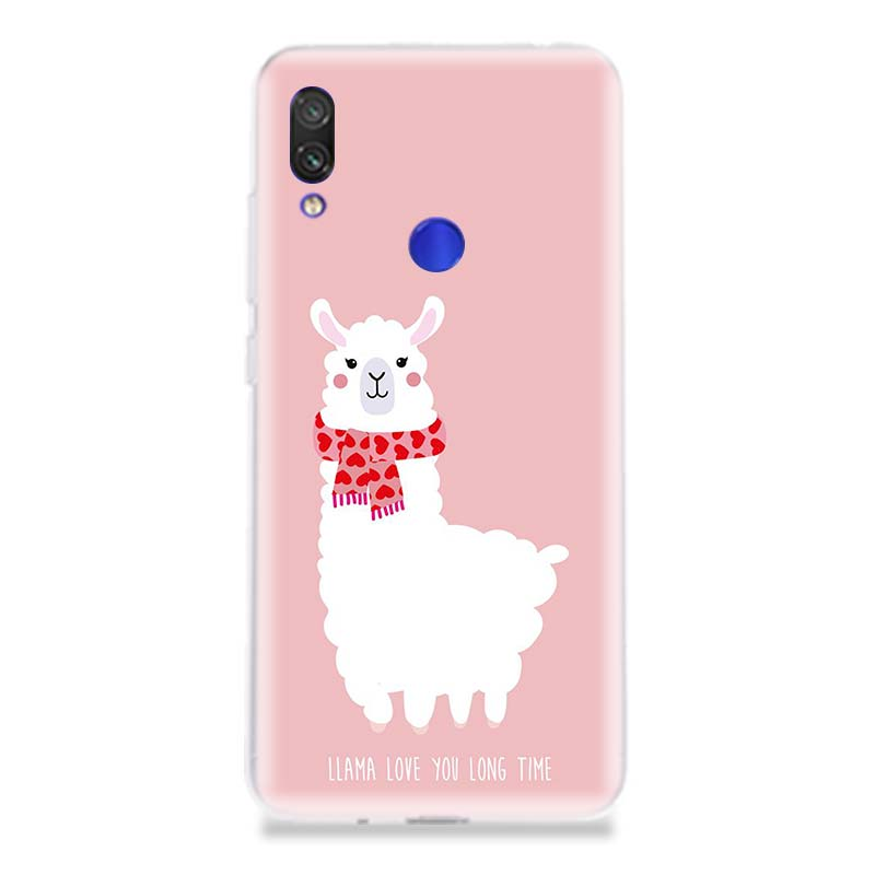 Lama Llama Alpacas Phone Case for Xiaomi Redmi S2 Y3 Y2 K20 Pro Note 7 7S 6 5 Pro 4 4X Mi Pocophone F1 9 8 A2 Lite Coque Cover in Half wrapped Cases from Cellphones Telecommunications