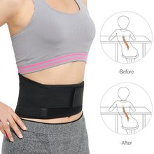 SFIT Adjustable Waist Tourmaline Self heating Magnetic Therapy Back Waist Support Belt Lumbar Health Care Brace Massage Band(China)