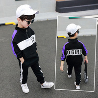Kids Boutique Clothing Set Boys Clothes Children Outfits 2019 Spring Autumn Fall Sweatshirt + Pants 2 to 8 Years