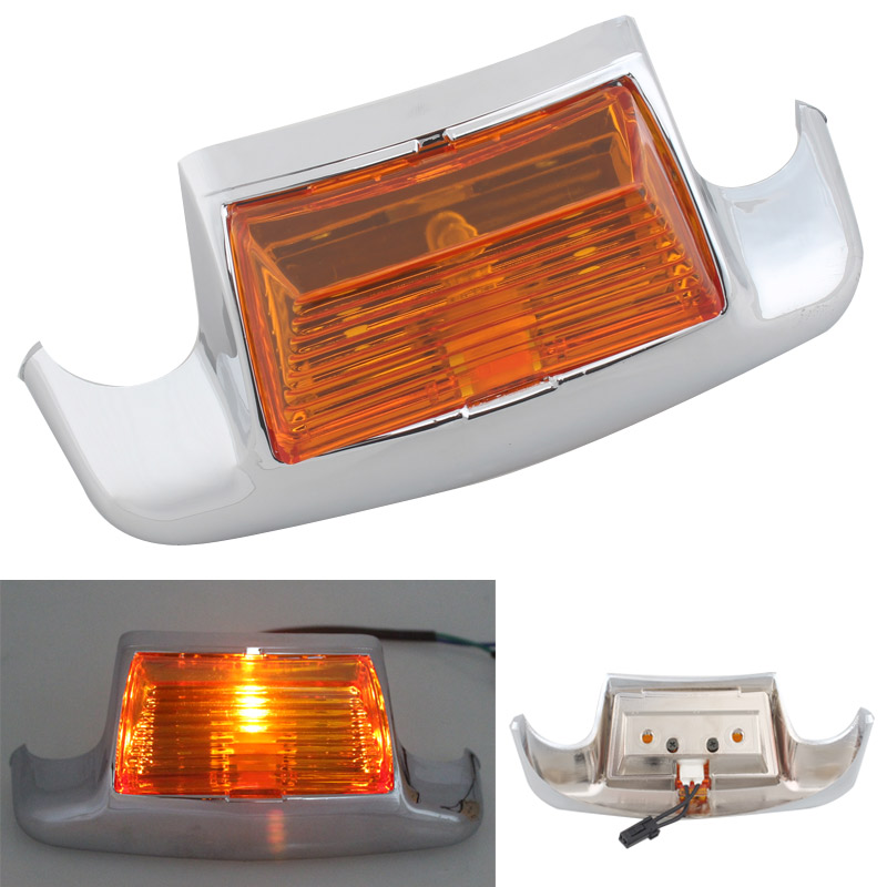 Motorcycle Rear Fender Tip Light LED Tailing Edge Driving Tail Light Amber For Harley FLSTC Heritage Softail Classic FLHT FLHTCU|  -