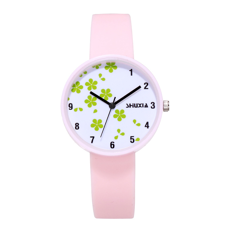 For Student Couple Watch For Grass Children's Wrist Watch Safety Silicone Strap Clock Baby Kids Hour Fashion For Young Boy Girl