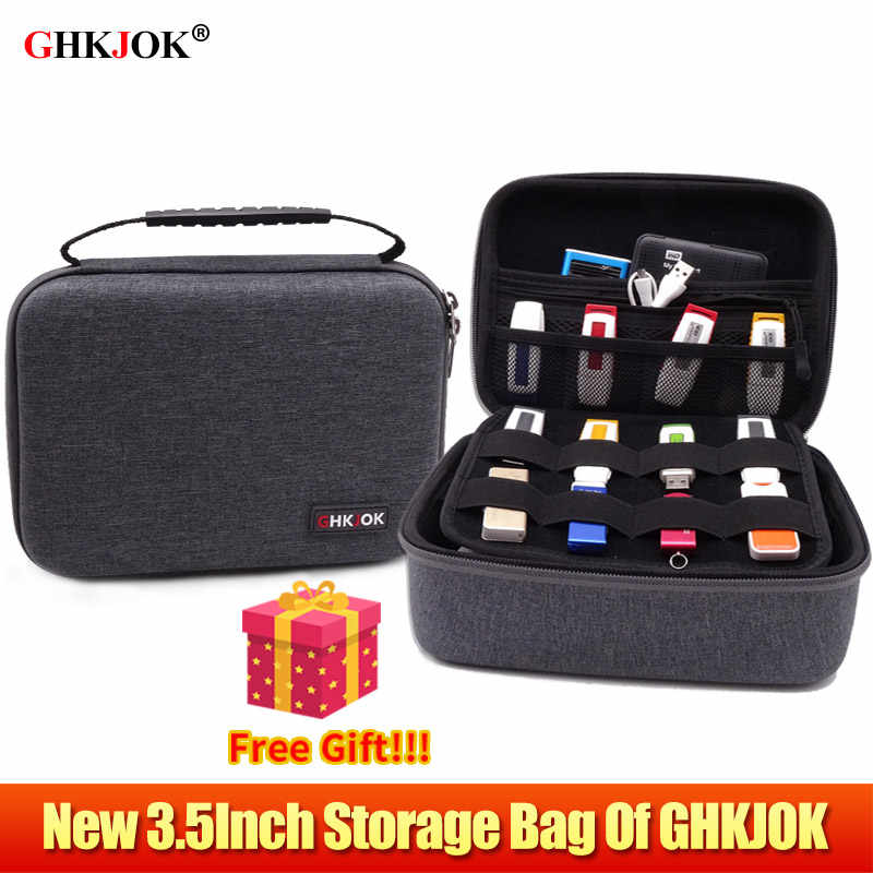 New 3.5 Inch Multi-Functional Case Bag Power Box for Organizer Power Bank HDD USB Flash Hard Disk Cable External VR Storage Bag