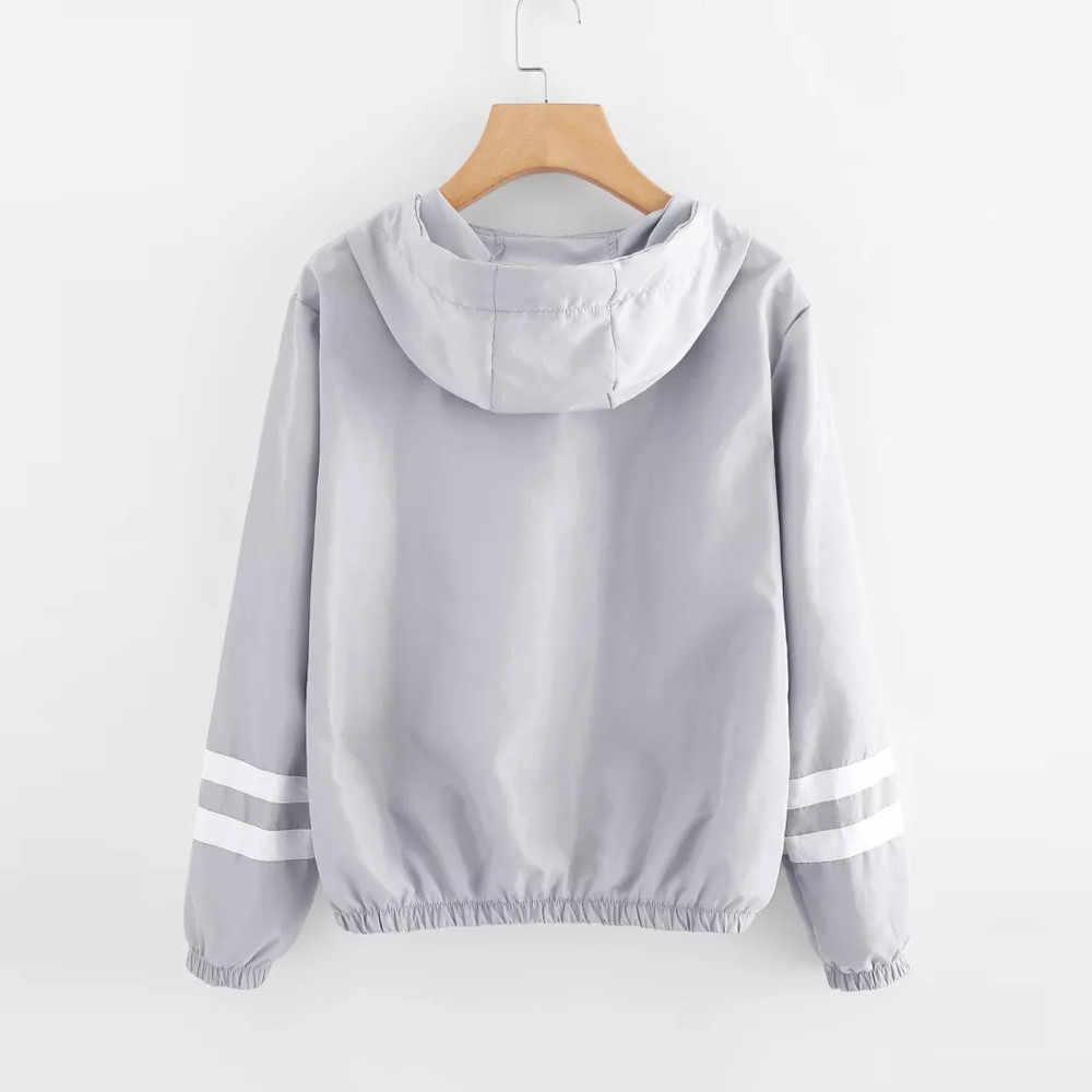 Herbst frauen Sweatshirt Langarm Patchwork Dünne Skinsuits Mit Kapuze Zipper Taschen Sport Mantel Lässig Frauen Bluse Tops Neue