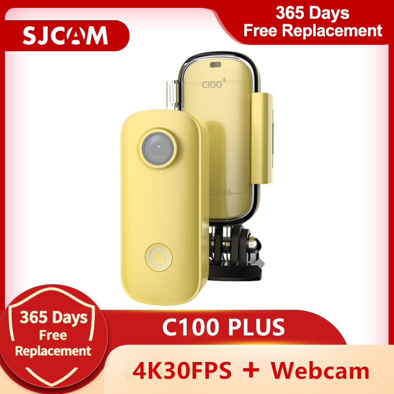 SJCAM C100 Plus Mini Action Camera Thumb Camera 2K 30FPS H.265 NTK96675 WiFi 30M Waterproof Sports DV Camera Webcam