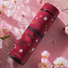 Korean Thermos Mug Version Fresh Stainless Steel Tumbler Coffee Bottle 500ml Garrafa Termica Inox Flask 50T082
