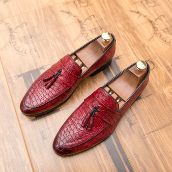 Italian Tassel Loafers Loafers Male Autumn Soft Leather Men Shoes Moccasins Driving Shoes Men Slip on Flat Loafers Male HC-658 фото