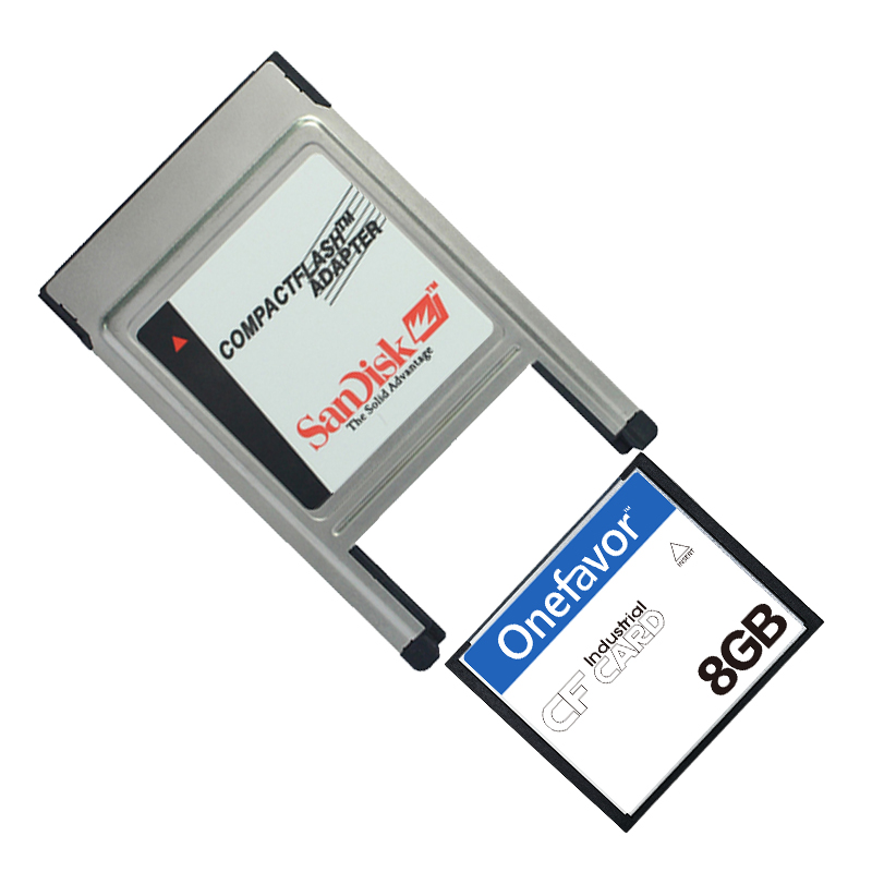 CF Card 32MB 64MB 128MB 256MB 512MB 1GB 2GB 4GB 8GB Compact Flash Card Industrial CF Memory Card With PCMCIA Adapter Type I