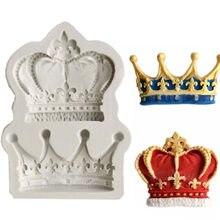 Coroas da princesa rainha 3d molde de silicone fondant bolo cupcake ferramentas de decoração argila resina doces fimo super sculppey f0761