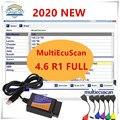 2021 горячая Распродажа MultiEcuScan V4.6 зарегистрированный неограниченный мультиэбу сканер для Fiat может работать с ELM327