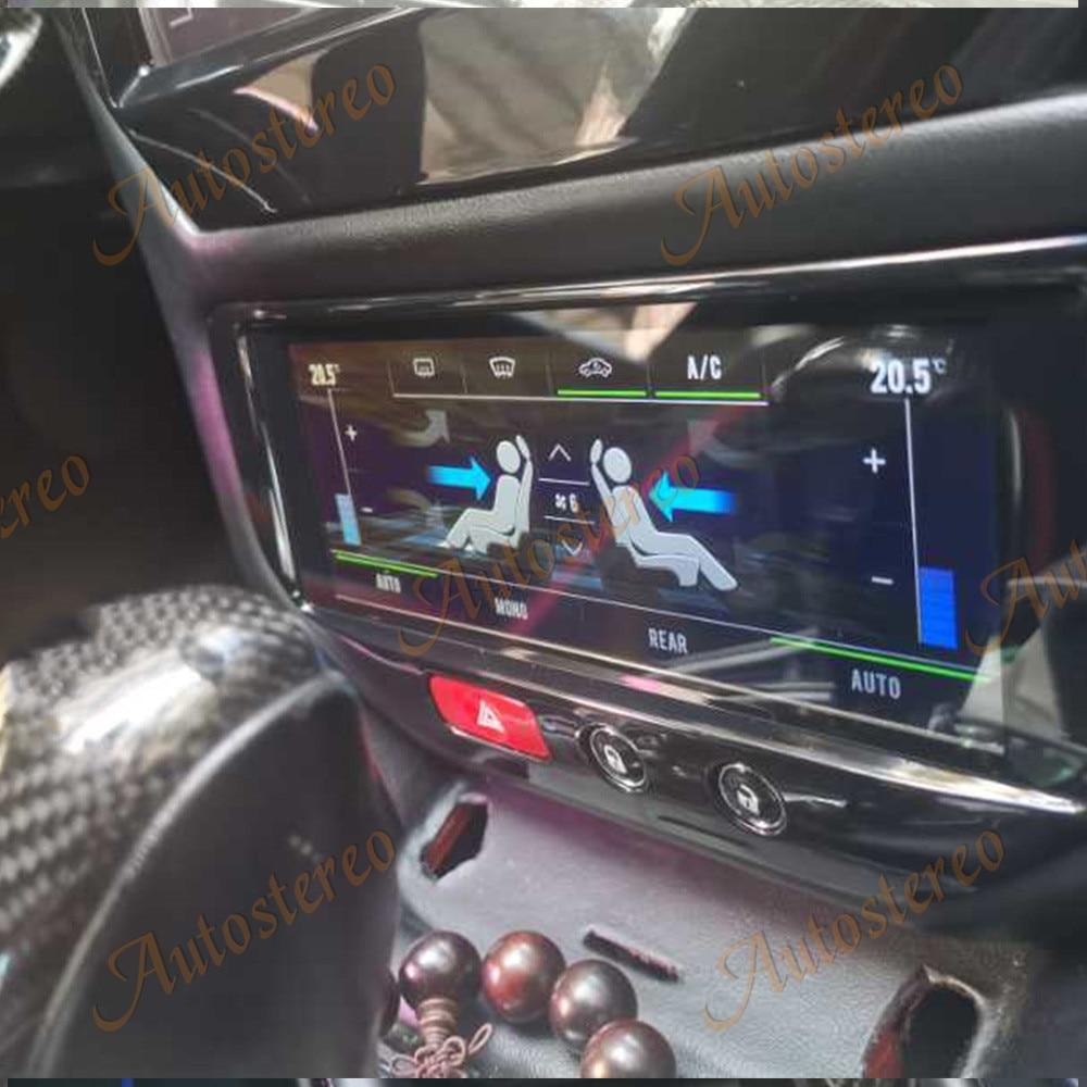 Para Maserati GT/GC/GranTurismo aire acondicionado para coche de Android9 Unidad de pantalla de fibra de carbono Multimedia Player navegación GPS AutoRadio