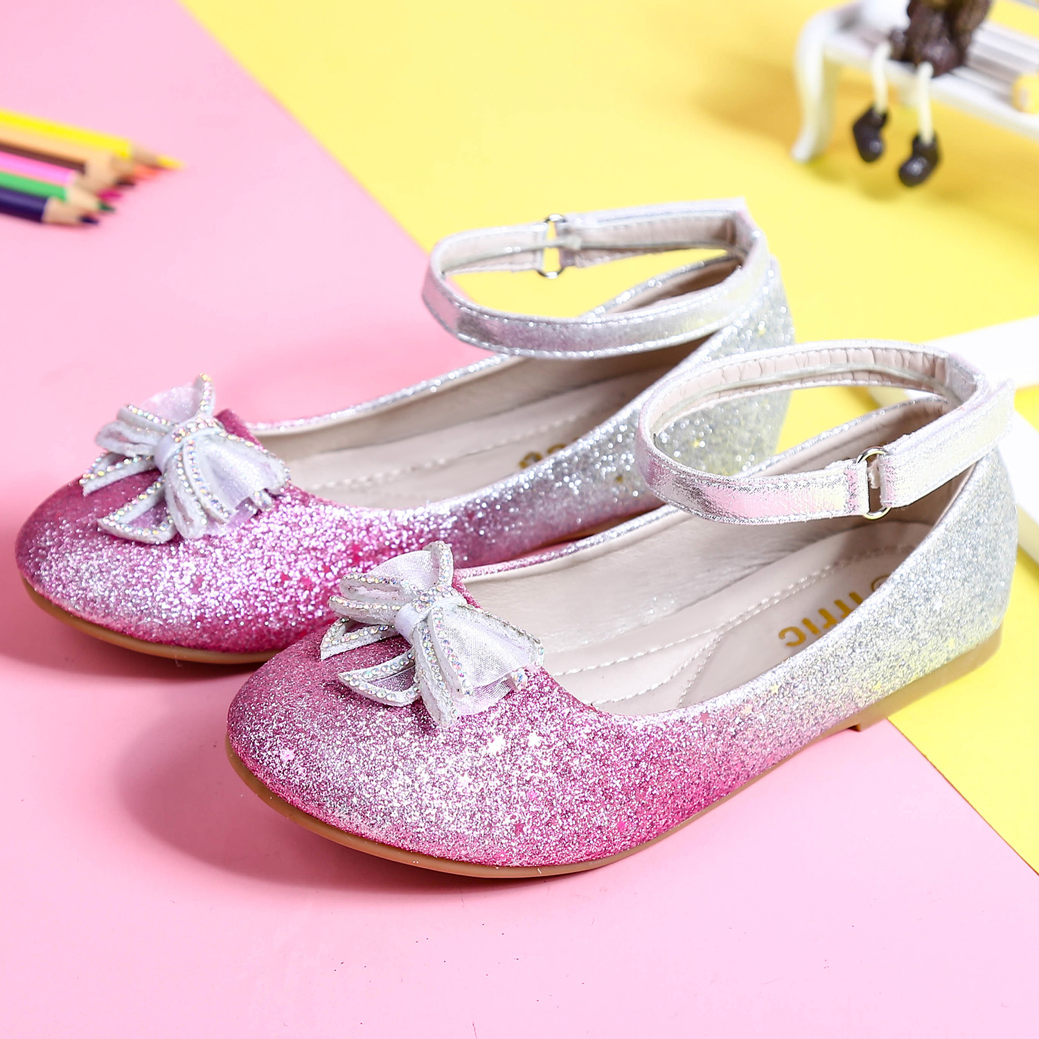 Fashion Girls Marry Jane Shoes Spring Summer Wedding Party Flats Red Pink Comfortable Dance Shoes Girls Flats Cheap Shoes