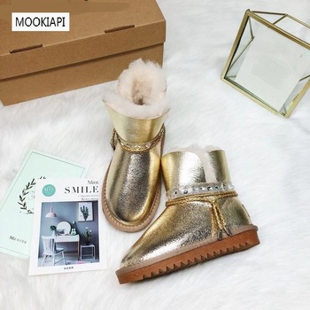 China's top quality women's snow boots in 2019, real sheepskin, 100% wool, fashionable women's shoes, three colors