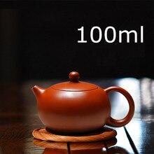 Новое поступление ручной работы Xi Shi чайник с заваркой чая чайник из красной глины 100 мл Zhu Ni фарфор Античная китайская керамика чайник