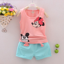 casul girls t shirt shorts two sets lace jeans shorts pants summer top tee white t shirt pure cotton butterfly cartoon clothes Toddlers Kids Baby Girl Clothes Summer Sets Sleeveless T-shirt Tops+Shorts Outfits 2pcs Girls Minnie T-shirt Cartoon Clothes Set