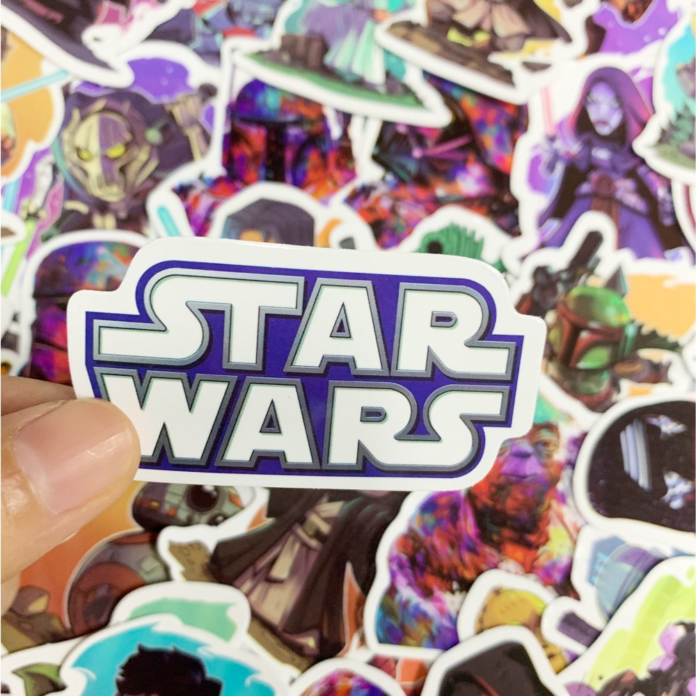 50 PCS STAR WARS Stickers Pack Movies Character Sticker for DIY Skateboard Motorcycle Luggage Laptop Cartoon Sticker Sets