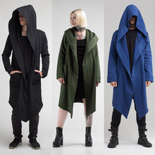 US STOCK Women Men Outwear Hooded Coat Long Trench Jacket Warm Casual Cloak Cape