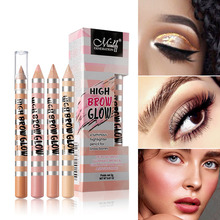 1Pcs Eyebrow Highlight Pen Facial Makeup Highlighter Pencil 4 Color Eye Brow Bright Pearlescent Waterproof Long Lasting Cosmetic