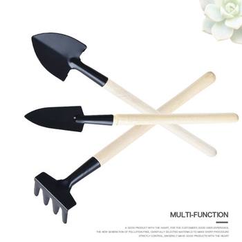 3pcs Home-grown Mini Digging Suits Home Gardening Tool Set Balcony Shovel Rake Combination for Plant Flower Planting Loose Soil image