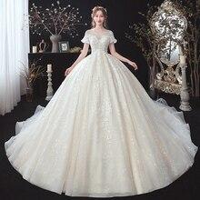 Beading Appliques Lace Short Sleeve High Waist Princess Ball Gown Wedding Dress For Pregnancy Brides Plus Size Aliexpress Login