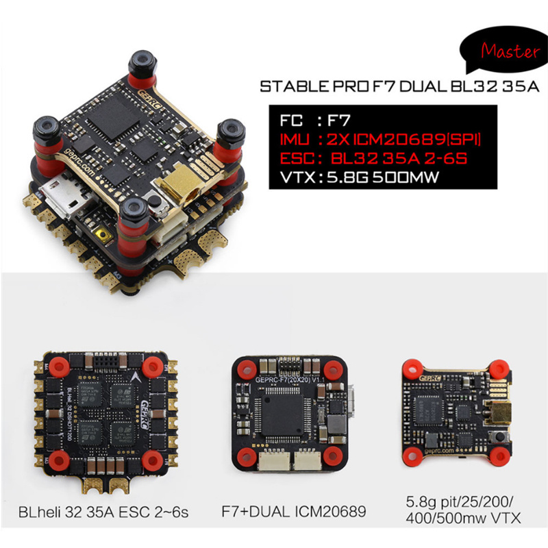 Geprc Stable Pro F7 Dual Bl 35A Flytower Stable V2 F4 Контроллер полета + 35A/30A ESC + 5,8g 500mw VTX для FPV Racing Drone|Детали и аксессуары|   | АлиЭкспресс