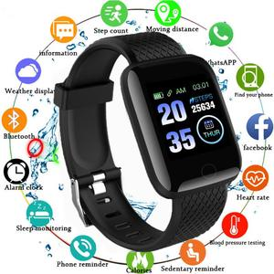 116 Plus Smart Watch Women Men Smartwatch Bluetooth Smart Band Heart Rate Bracelet Blood Pressure Monitor Waterproof Sport watch