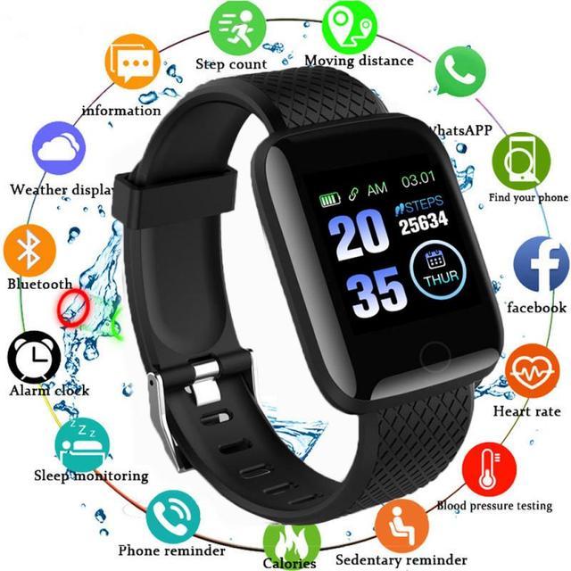 116 Plus Smart Watch Women Men Smartwatch Bluetooth Smart Band Heart Rate Bracelet Blood Pressure Monitor Waterproof Sport watch