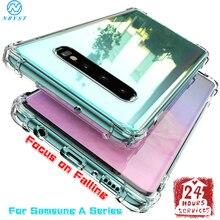 Airbag de silicona suave caso de teléfono para Samsung Galaxy A70 A60 A50 A40 A30 A20 A10 A90 A80 cubierta del teléfono A6 A8 J4 J6 más A3 A5 A7 A9