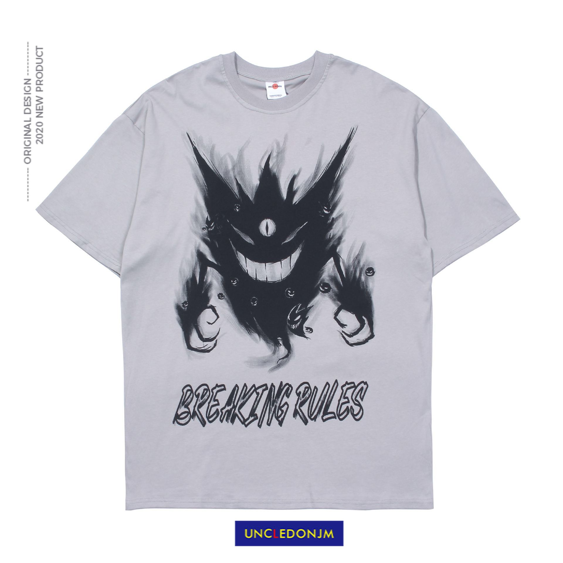 UNCLEDONJM Devil Ghost print Men <font><b>T</b></font> <font><b>shirt</b></font> O-neck Men <font><b>T</b></font> <font><b>shirt</b></font> Loose Hip hop Tops Tees Streetwear Short Sleeve <font><b>T</b></font> <font><b>shirts</b></font> <font><b>MC</b></font>-5053 image