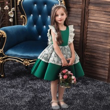 2019 Kids Girls Party Wedding Lace Sleeveless Dress Children Pageant Costumes Robes Formal Princess Dresses Hot girls princess lace dress 2017new summer kids children white red color sleeveless lace tail dress wedding birthday party dresses