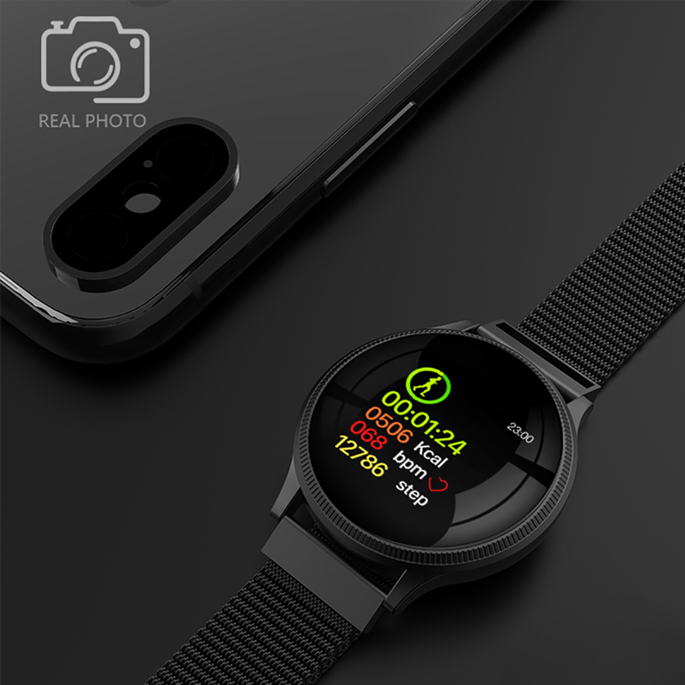 Sports Health Smart Watch 1.22 inch Magnetic Strap Fitness Tracker IP67 Waterproof Heart Rate Monitor Smartwatch for IOS Android (2)