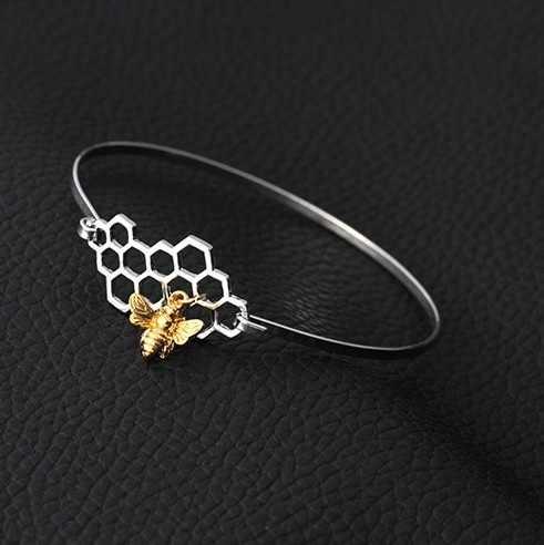 1Pc 高品質女性蜂の巣ブレスレットクラシック中空蜂ブレスレットハニカム女性バングル蜂ハイブ六角ジュエリー