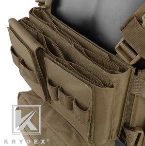 Image 5 - KRYDEX MK3 טקטי החזה מיני ספיריטוס ארומטיים Airsoft ציד אפוד צבאי ריינג טקטי Carrier Vest עם מגזין פאוץ