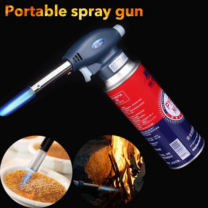 1Pcs Gas Torch Flame Gun Blowtorch Cooking Soldering Butane AutoIgnition Gas-Burner Lighter Heating Welding Gas Burner Flame